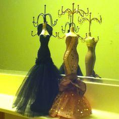 Dress form jewelry holders