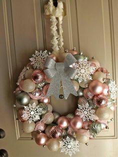 Mooie vintage romantische kerstkrans