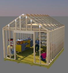 Build your perfect workshop shed using these 12x16 gable shed plans. If you're like me you just don't have enough room in your garage anymore for your workshop!