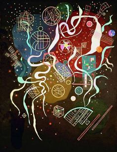 Wassily Kandinsky (Russian, Movement I (Mouvement I), Mixed media on canvas. 45 x 35 in. x 89 cm). Bequest of Nina Kandinsky, The State Tretyakov Gallery, Moscow. Modern Art, Kandinsky, Art Painting, Russian Art, Abstract Painting, Painting, Kandinsky Art, Art Movement, Abstract