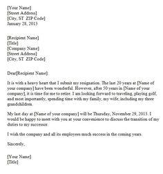 Resignation Letter Samples-0009 | Future Ideas | Pinterest ...