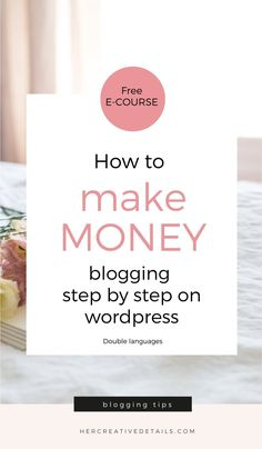Here I explain you how to make money blogging and how to start a blog step by step wordpress for beginners and make money from it: FREE E - COURSE! Make Money Blogging, How To Make Money, Read More, Letter Board, How To Start A Blog, Wordpress, About Me Blog, Success, Learning