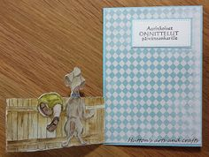 Huttons arts and crafts handmade cards Art Impressions Front and back Scrappie Bily
