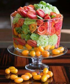 Flower fruit salad