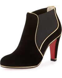 Christian Louboutin | Loulouboot Suede 85mm Red Sole Ankle Boot |  Lyst