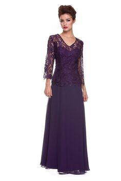 A Line Princess V Neck Sweep Chiffon Lace Mother of the Bride Dress Plus Size  #ThedressoutleT #Formal