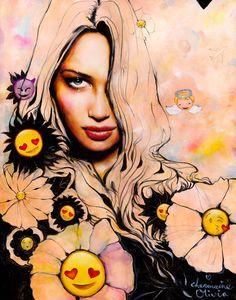 "Charmaine Olivia - ""Emoji Flowers"" | Spoke Art"