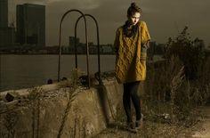 Yellow knit + grungy background = amazing photograph
