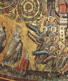 Jacopo Torriti's mosaics in the apse of the Basilica di Santa Maria Maggiore in Rome. www.italianways.com/torritis-splendid-mosaics-in-santa-maria-maggiore/