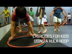 Basic Exercise for Kids using a hula hoop - YouTube