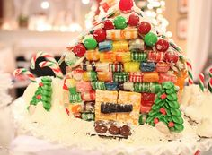 love this idea for gingerbread houses.