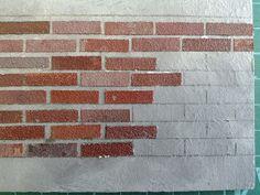 Miniature House  Bricks from cardboard
