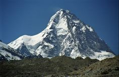 K2 (Mount Godwin-Austen) is located on the border between Pakistan and China and is part of the Himalayan Mountain Range. It is the second highest mountain in the world and is a far more treacherous climb than Everest. In fact, one of every four people that attempts to reach the summit at about 28,251 feet (8,611 meters), dos not live to see the bottom again