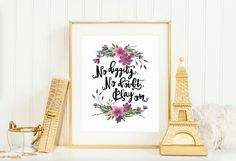No Diggity Print No Doubt Play On Quote Song by PrettyPennyPrints Cube Decor, No Diggity, Custom Checks, Frame It, Custom Art, Order Prints, Floral Wreath, My Etsy Shop, Quote