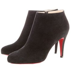 Christian Louboutin Belle Suede Ankle Boots Black $148