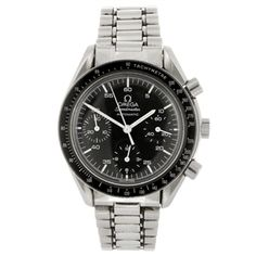 A stainless steel automatic chronograph gentleman's Omega Speedmaster bracelet watch. Estimate GBP: £700 - £900