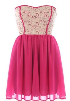Raspberry Garnish Dress | Lace Chiffon Dresses | Rickety Rack