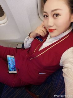 China Southern Airlines, Cabin Crew, Flight Attendant, Pretty Girls, Asian Girl, Leather Jacket, Beautiful, Fashion, Boots
