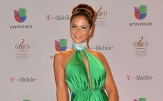 Lorena Rojas arrives at the 25th Anniversary Of Univision's 'Premio Lo Nuestro A La Musica Latina' on February 21, 2013 in Miami