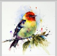 Items similar to BIRD Flock Watercolor Print, Bird Art Painting by Dean Crouser on Etsy Watercolor Bird, Watercolor Animals, Watercolor Paintings, Tattoo Watercolor, Watercolours, Art Paintings, Art Et Illustration, Bird Prints, Bird Art