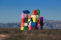 Just Outside Las Vegas, 'Magic Mountains' Brighten Up The Desert Expanse