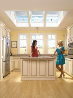 Introducing skylight roof windows & tubular skylights from Velux. A skylight known for smart design & outstanding value. Skylight Window, Roof Window, Lounge Lighting, Solar, Roof Light, Home Upgrades, Basement Remodeling, Windows And Doors, Kitchen Remodel