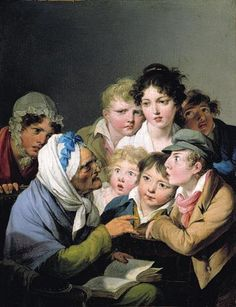And The Ogre Ate Him Louis-Léopold Boilly (1761 – 1845, French)