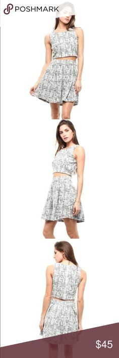 Tweed two Piece skirt set NWT black and white Chanel like tweed skirt Set. High quality and very elegant. Available in size small medium or large. Bundle to save on shipping Skirts Midi