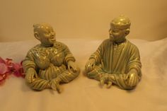 Sale Antique oriental Man and Woman figurines by HuntWithJoy