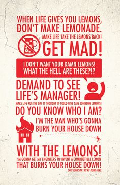 Etsy の When Life Gives You Lemons 11x17 Poster Print by blimpcat