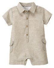 I'd love this for my baby nephew!!!  Linen onesie for baby boy