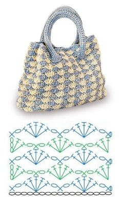 Crochet bags with dot chart gráfico Facing the Sea # bags Informations About Bolsas de … Crochet Crafts, Crochet Projects, Knit Crochet, Diy Crafts, Crochet Handbags, Crochet Purses, Crochet Bags, Crochet Stitches Patterns, Knitting Patterns