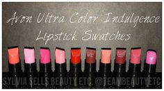UC Indulgence Lip Color Swatches