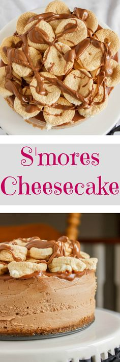 S'mores Cheesecake | #chocolate #foodie #cheesecake | http://thecookiewriter.com