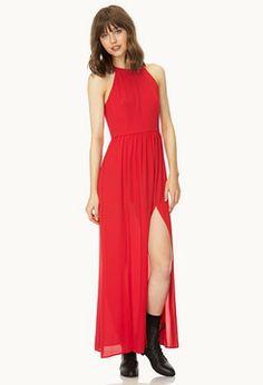 Forever 21 Elegant M-Slit Maxi Dress on shopstyle.com