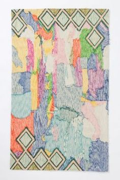 Anthropologie : Crewel Abstraction Rug