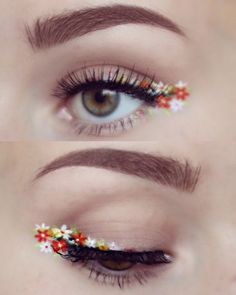 what. why is this so pretty. like her eyebrows and those flowers.. I would never do this, but totally pin worthy. pinterest : hyunnaosullivan