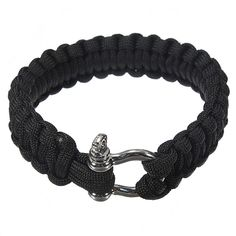 Survival Bracelet Hand Ring Strap Weave Paracord Buckle Emergency Quick Release For Outdoors
