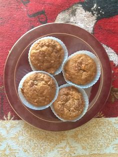 Yummy home made carrot applesauce muffins. Yummy!!