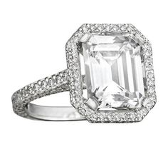 Mimi So Emerald Cut Diamond Engagement Ring