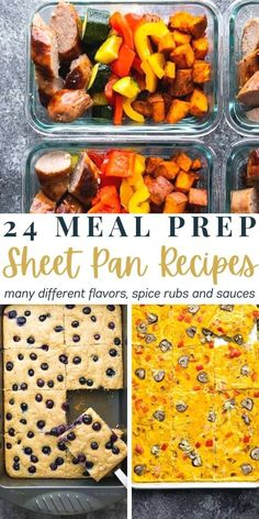 24 tasty sheet pan recipes to save time and make meal prep more efficient. These sheet pan recipes are incredibly versatile, with many different flavors, spice rubs and sauces. #sweetpeasandsaffron #sheetpan #mealprep Saffron Recipes, Spice Rub, 30 Minute Meals, One Pot Meals, Soup And Salad, Sheet Pan, Easy Dinner Recipes, Meal Prep, Meal Planning