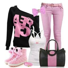 Lovely pink outfit wish list! Valentine's Day Outfit, Grey Outfit, Black Outfits, Outfit Ideas, Pink Fashion, Fashion Outfits, Womens Fashion, Fasion, Lucas Scott