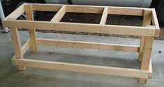 Simple Workbench Plans 2×4 Free Download l shaped patio bar plans ...