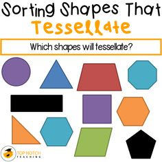 Tessellation can be such an exciting and motivating way for kids to learn about shape and space. Fitting colored shapes to make a colorful tessellating pattern seems to engage children, which is on...