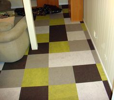 patterned painted floor could be fun, look like old school vinyl tiles
