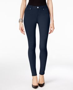 Inc International Concepts Ponte Skinny Pants, Only at Macy's - Blue 8S