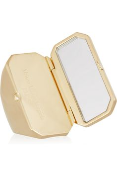 This would be perfect to glance at my bangs when I'm out...Maison Martin Margiela|Gold-tone compact ring|NET-A-PORTER.COM