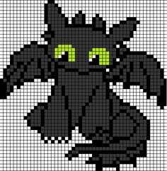 Toothless pixel art by DragonArtist12 on DeviantArt