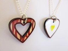 Bacon and Eggs Best Friend Necklace Set. $16.00, via Etsy.