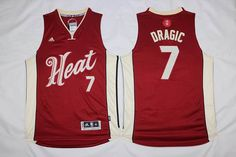 Miami Heat 7 Goran Dragic red 2015-2016 Christmas Day Jersey
